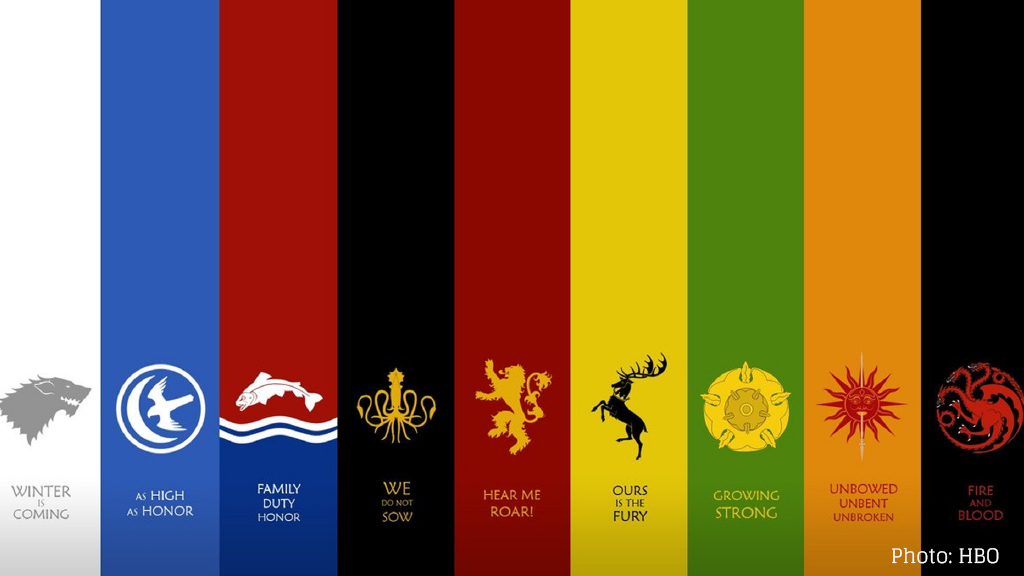 Banner der Game of Thrones Häuser