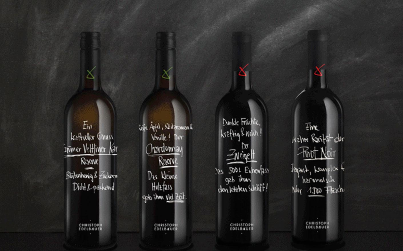 4 Weinflaschen