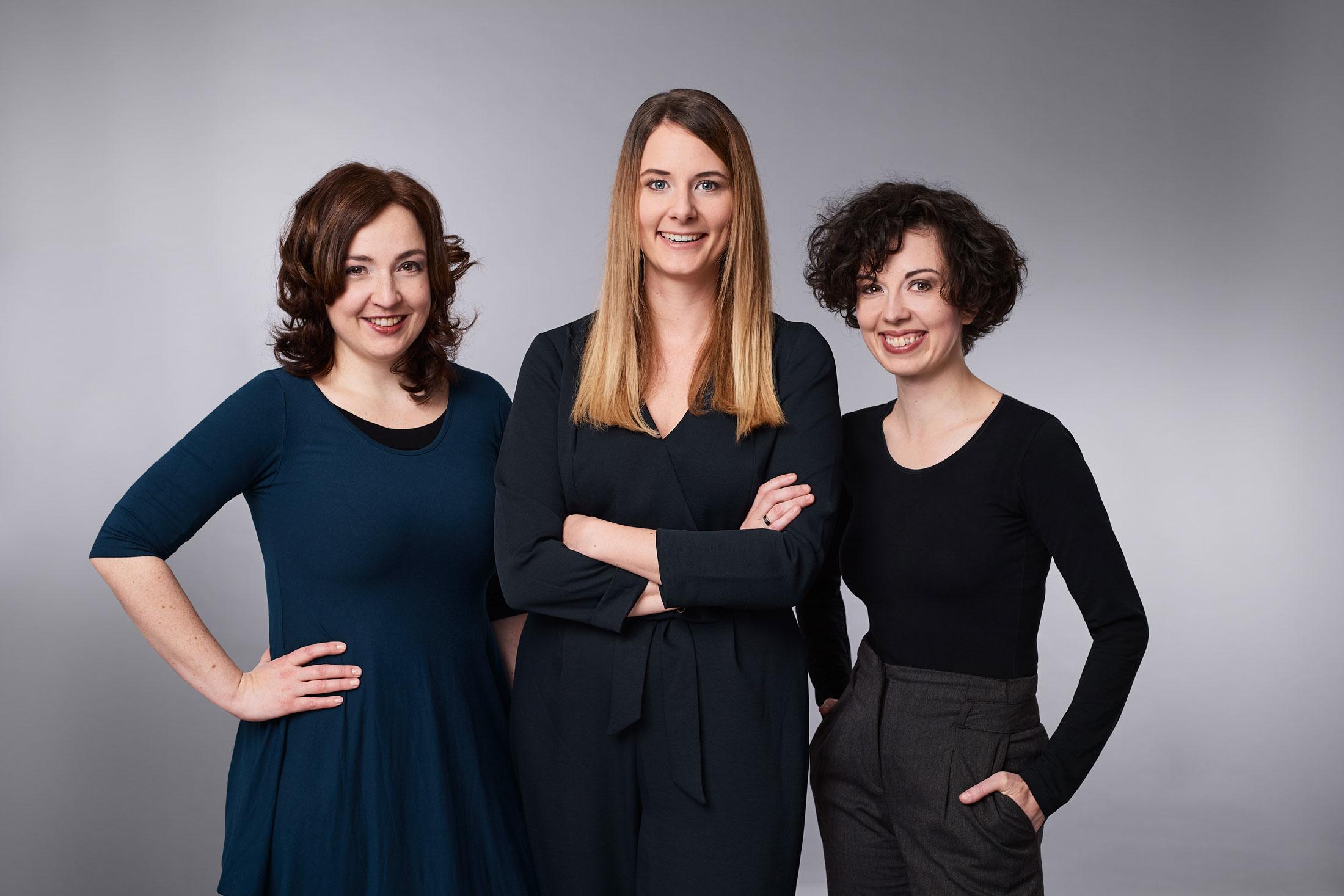 Teamfoto von Julia Pleschke, Irene Zöhrer und Klara Rabl