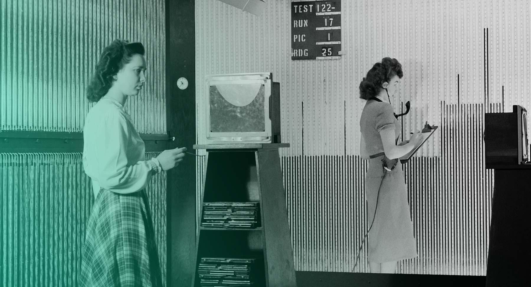 NACA Computer empfangen Übertragungen von Manometer Boards